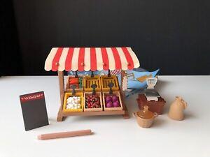 Playmobil * komplett + OVP + Anleitung * Set 7615 Marktstand 1996 Gemüsestand
