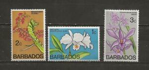 BARBADOS - MH FLOWER STAMPS - SCOTT 396-398 - R54e