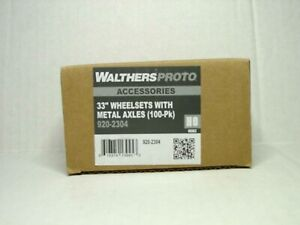"""WALTHERS PROTO HO SCALE 33"""" WHEELSETS W/METAL AXLES (100-PK) 920-2304"""