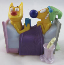 Burger King Kid's Club Catdog In Bed Pullback toy - 1999 - Out of Package