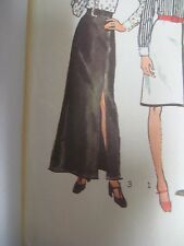 Vintage 70s Simplicity 5259 ANKLE LENGTH SKIRT w/ SIDE SLIT Sewing Pattern Women