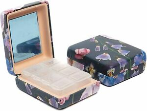 7 Day Pill Box Organiser Case Mirror Weekly Medicine Tablet Dispenser Storage