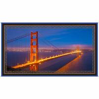 "GOLDEN GATE BRIDGE PANEL  QUILTING TREASURE  ARTWORKS VII  SAN FRANCISCO 23""x44"""