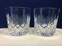Waterford Crystal Lismore Old Fashioned Whiskey Glasses - Set of 2