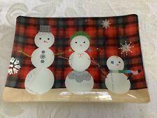 New Fringe Studio Decorative Snowmen Family Tray Trinket Dish