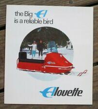 1968 Vintage Alouette Snowmobile Sales Brochure ~ 3 Panels
