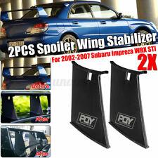 2Pcs Spoiler Wing Stiffi Support Stabilizer For Subaru Impreza WRX STi 2002-2007
