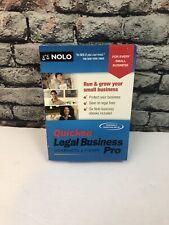 NOLO Quicken Legal Business Pro Contracts & Pro 2015 Software CD Windows Vista