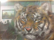 Original Pastel Portrait Of A Tiger By Joel Kirk