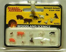 Woodland Scenics A2202 Barnyard Animaux chiffres N Gauge