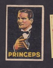 Ancienne étiquettes Allumettes Belgique BN22441 Cigare Princeps Homme