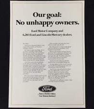 Original 1973 FORD MOTOR COMPANY Full Page Ad ~ Vintage Advertisement