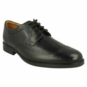 WHIDDON WING MENS CLARKS LEATHER LACE UP CUSHIONING COMFORT BROGUE DRESS SHOES