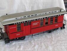 LGB 3181: Denver South Park & Pacific Combine Passenger Car G-Scale train
