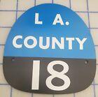 LA COUNTY 18 FIRE HELMET SHIELD