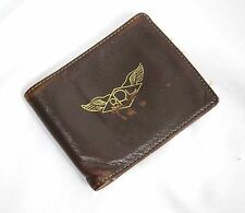Used Ralph Lauren RRL Dark Brown Leather Wings Logo Bifold Wallet