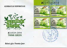 Azerbaijan 2016 FDC Think Green Europa 4v Booklet Cover Green Energy