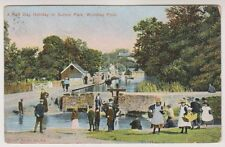 Yorkshire (North) postcard - A Half Day Holiday in Sutton Park, Wyndley Pool