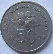 Malaysia 50 sen 1994 coin (B)
