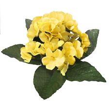 22cm Artificial Primrose Plant - Yellow Flowers - Decorative Plastic Plant