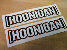 hoonigan sticker - pair -  ken block  decal 7in x 1.5in c RED OUTLINE