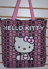 "Licensed Sanrio HELLO KITTY Pink & Black ""Blocks"" TOTE Shoulder BAG Purse NEW!!"