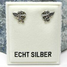NEU 925 Silber OHRSTECKER mit AMOR Engel CUPIDO Pfeil OHRRINGE Eros