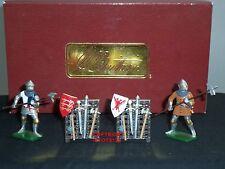Britains 41114 Uomini in armi CAVALIERI combattimenti scena metallo giocattolo soldato Figure Set