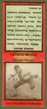 1935 DIAMOND MATCHBOOK GEORGE MUSSO CHICAGO BEARS BOBTAIL EX/MT W/GLUE RESIDUE