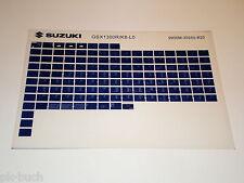 Microfiche Catalogo Ricambi Suzuki GSX 1300 Stand 2010