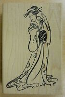 Japanese Lady Michiko Rubber Stamp by JudiKins