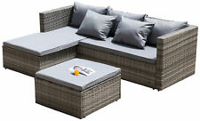 New Outdoor Patio Garden Sectional Sofa with Cushion and Ottoman/Coffee Table