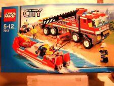 LEGO CITY   -   CAMION TOUT TERRAIN DES POMPIERS ET SON BATEAU  (BOÎTE SCELLEE)