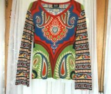 FUNKI BEAT <> HIPPY, BOHO, PSYCHEDELIC PRINT TOP <> SIZE 14 16