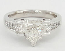 1.5Ct Heart Shape Diamond Solitaire Engagement Wedding Ring 14k Solid White Gold