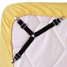 4pcs Triangle Bed Sheet Mattress Holder Fastener Grippers Clips Suspender Straps