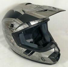 HJC CS-MX2 Motocross Helmet Grey/ Silver/ Black Size Large