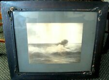 "Art Nouveau Wood Framed ""Girl In The Waves"" print/sketch c1916 VERY COOL!"