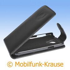 Flip Case Etui Handytasche Tasche Hülle f. Samsung Galaxy S 4 Mini (Schwarz)