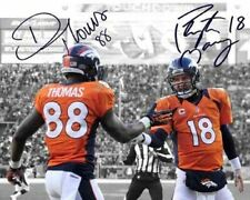 Peyton Manning Demaryius Thomas Denver Broncos Signed Photo Autograph Reprint