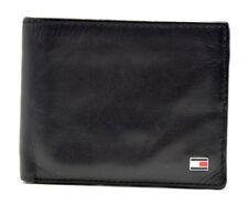 Tommy Hilfiger Mens Bifold Leather Card Wallet Black