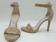 Kenneth Cole Brooke Women Shoes Gold Rhinestones Ankle Strap Heels Sz 5 M