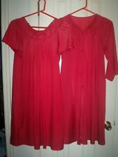 Shadowline Gown/Robe Set Size Small Cranberry Made in USA