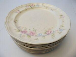 Vintage Pfaltzgraff USA Tea Rose Dinner Plates 10 3/8 Inches Set of 8