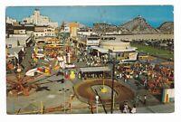 1950'S LONG BEACH CA NU PIKE AMUSEMENT PARK ROLLER COASTER POSTCARD CALIFORNIA