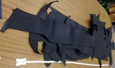 Black Leather Hide - Larger Pieces priced per pound