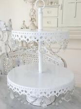 2 Tier Candelabra White Cupcake Wedding Birthday Cake Christmas Display Stand Nw