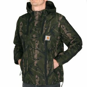 Carhartt WIP Nimbus Pullover Jacket Camo Tree Green Herren Windbreaker Grün