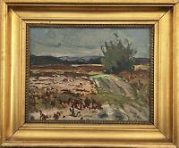 Impressionist Axel Simonsen (1884-1962) Wide Landscape - 16 1/2X20 1/8in