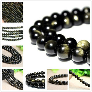 SUNYIK Black Obsidian Tumbled Chip Stone Irregular Shaped Drilled Loose Beads Strand for Jewelry Making 35